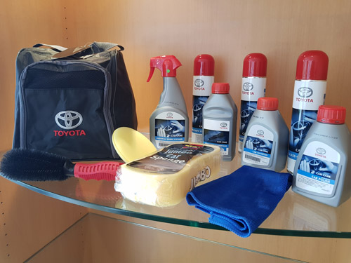 Official Toyota 12 piece car care kit