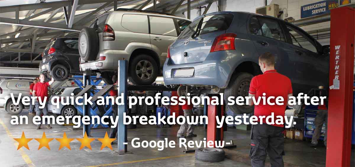 """Toyota Ireland trained technicians"""