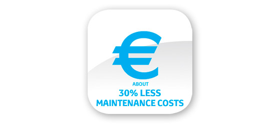 5.  Lower Maintainance costs